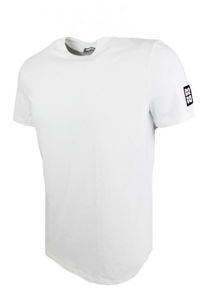 Dsquared Round Neck T-Shirt Wit