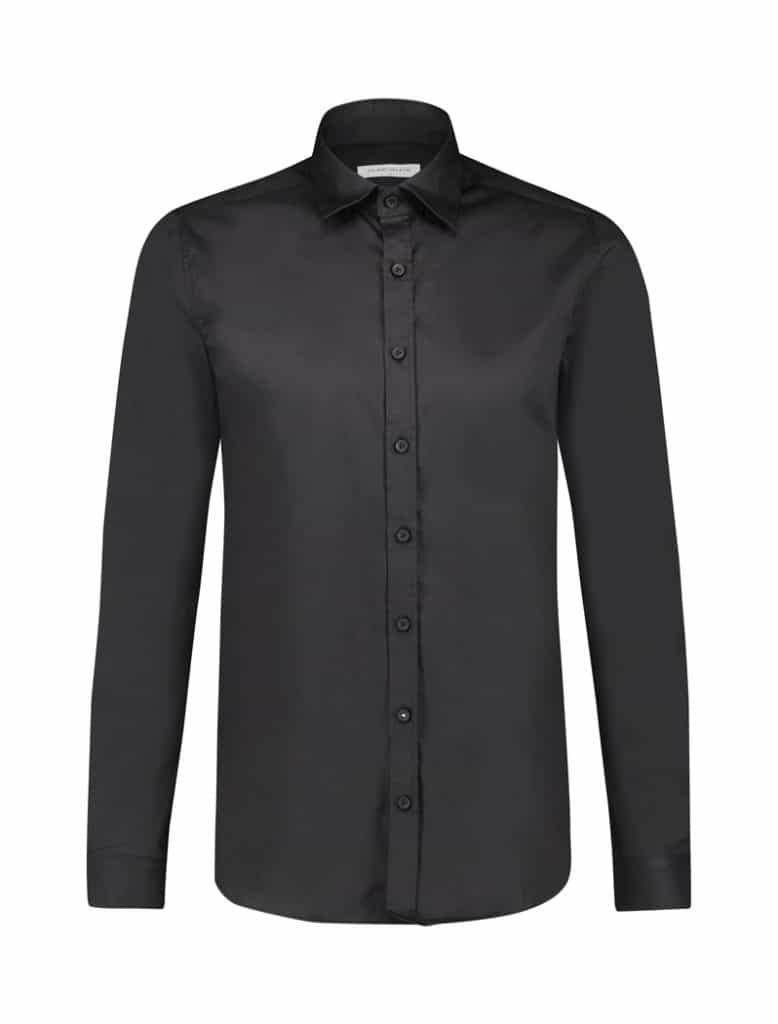 Purewhite Essential Shirt Zwart