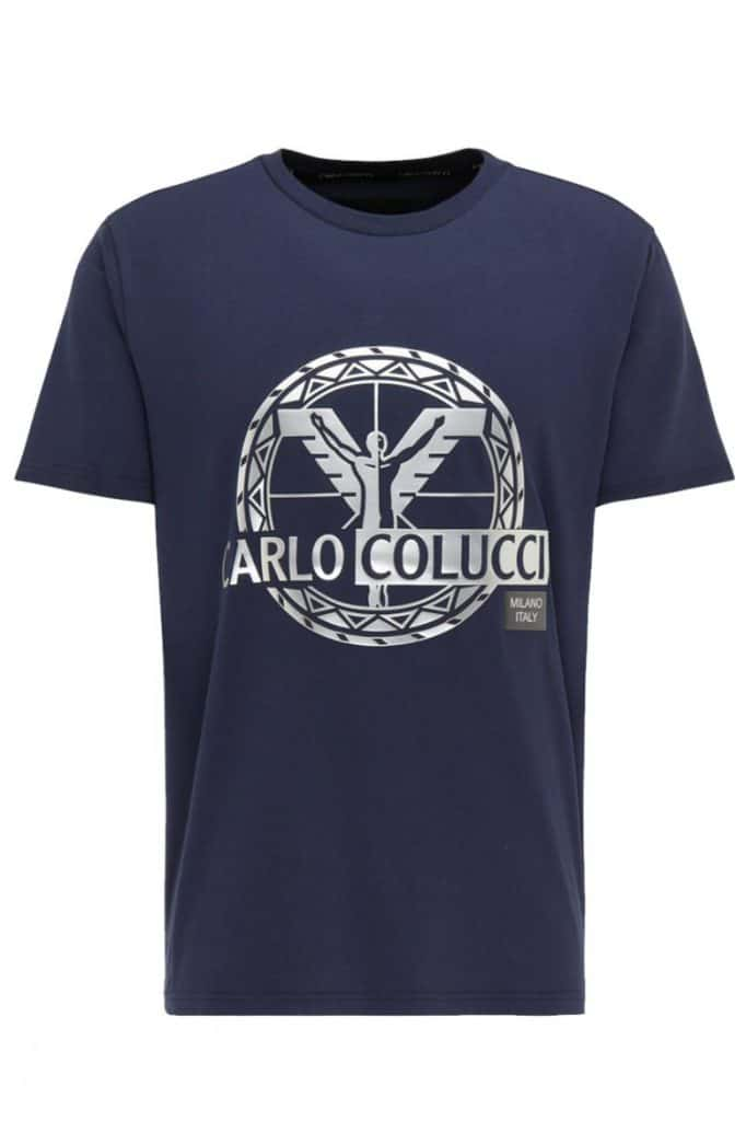 Carlo Colucci T-Shirt Blauw