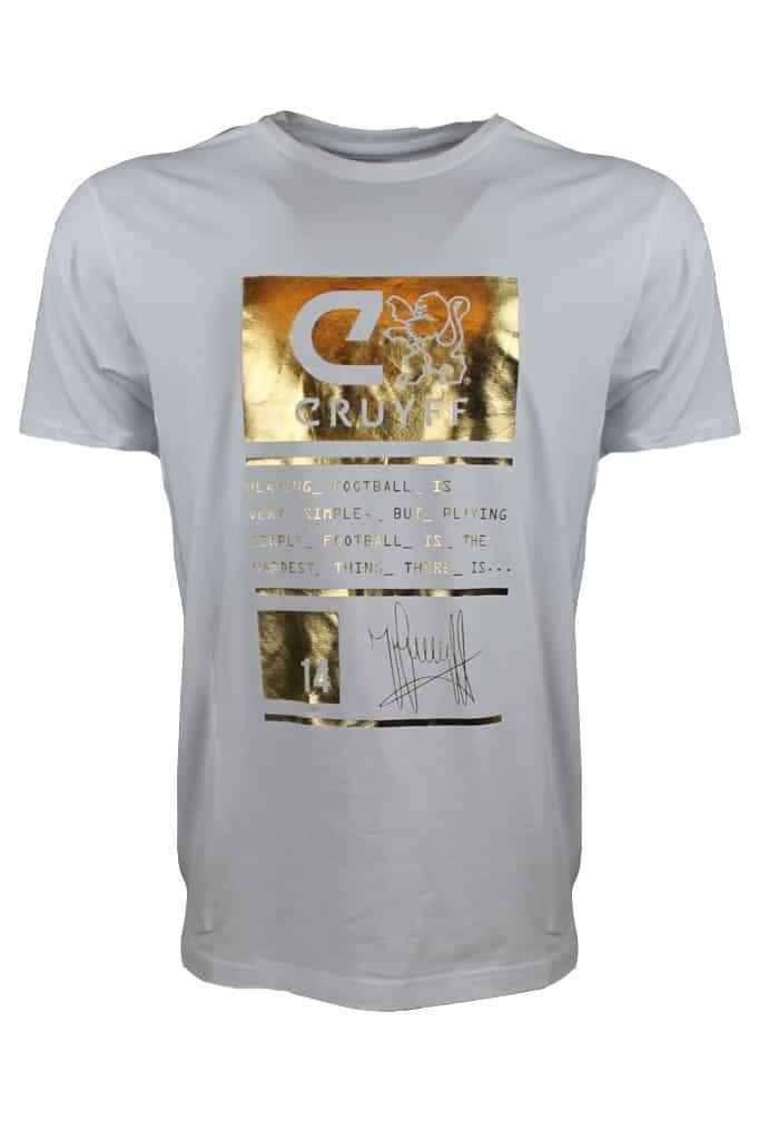 Cruyff Tee Gaspar SS Wit