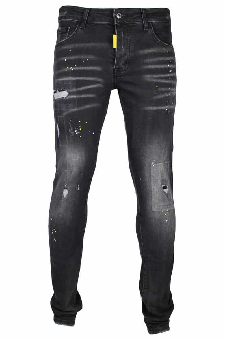 My Brand Black Faded Yellow Spot Jeans