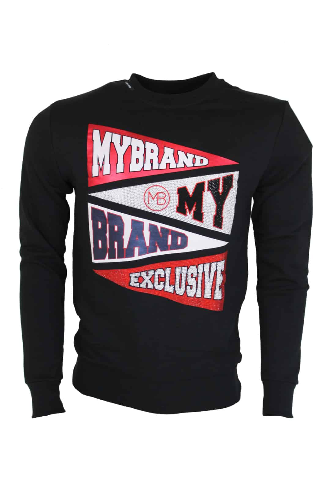 My Brand Flagged Sweater Zwart