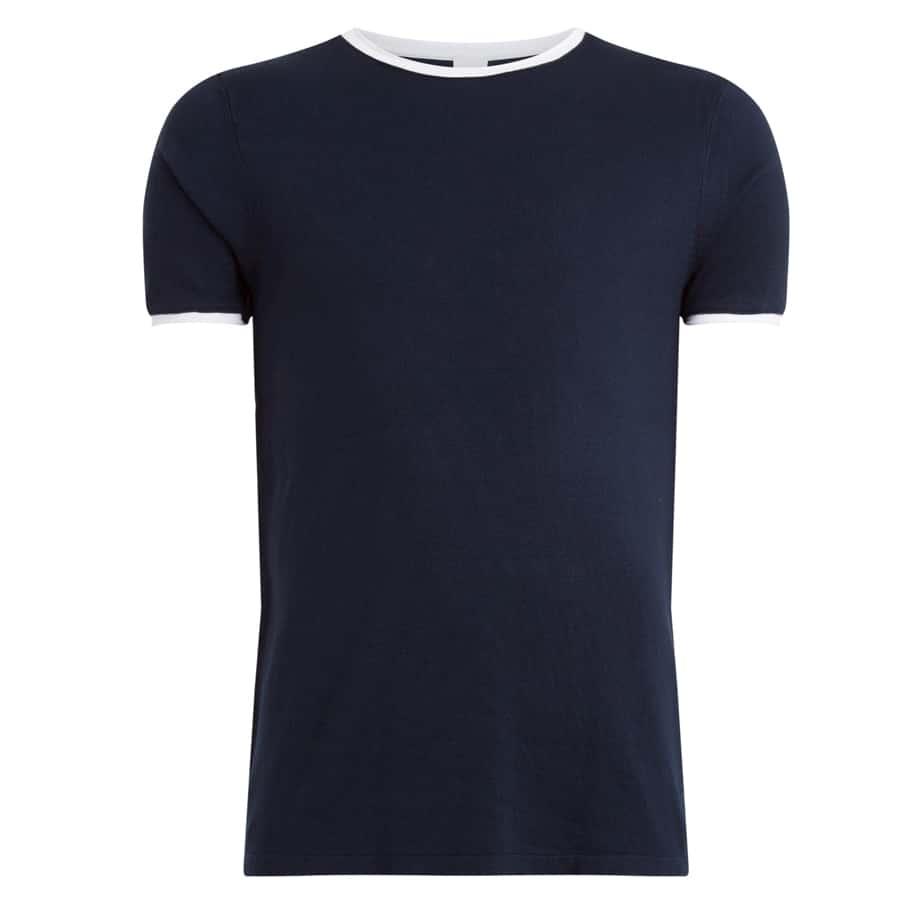 Purewhite T-shirt Navy