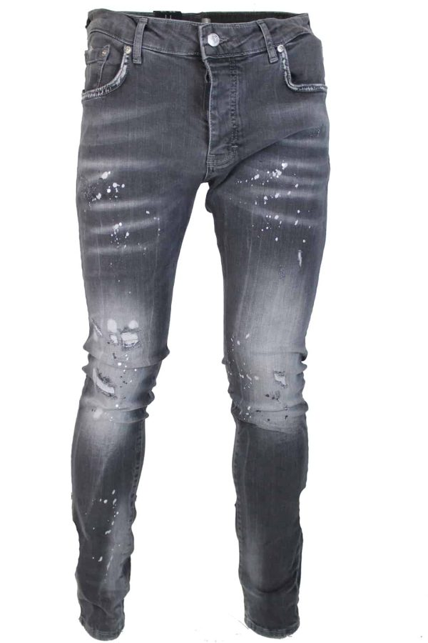 Mybrand Grey white spotted jeans