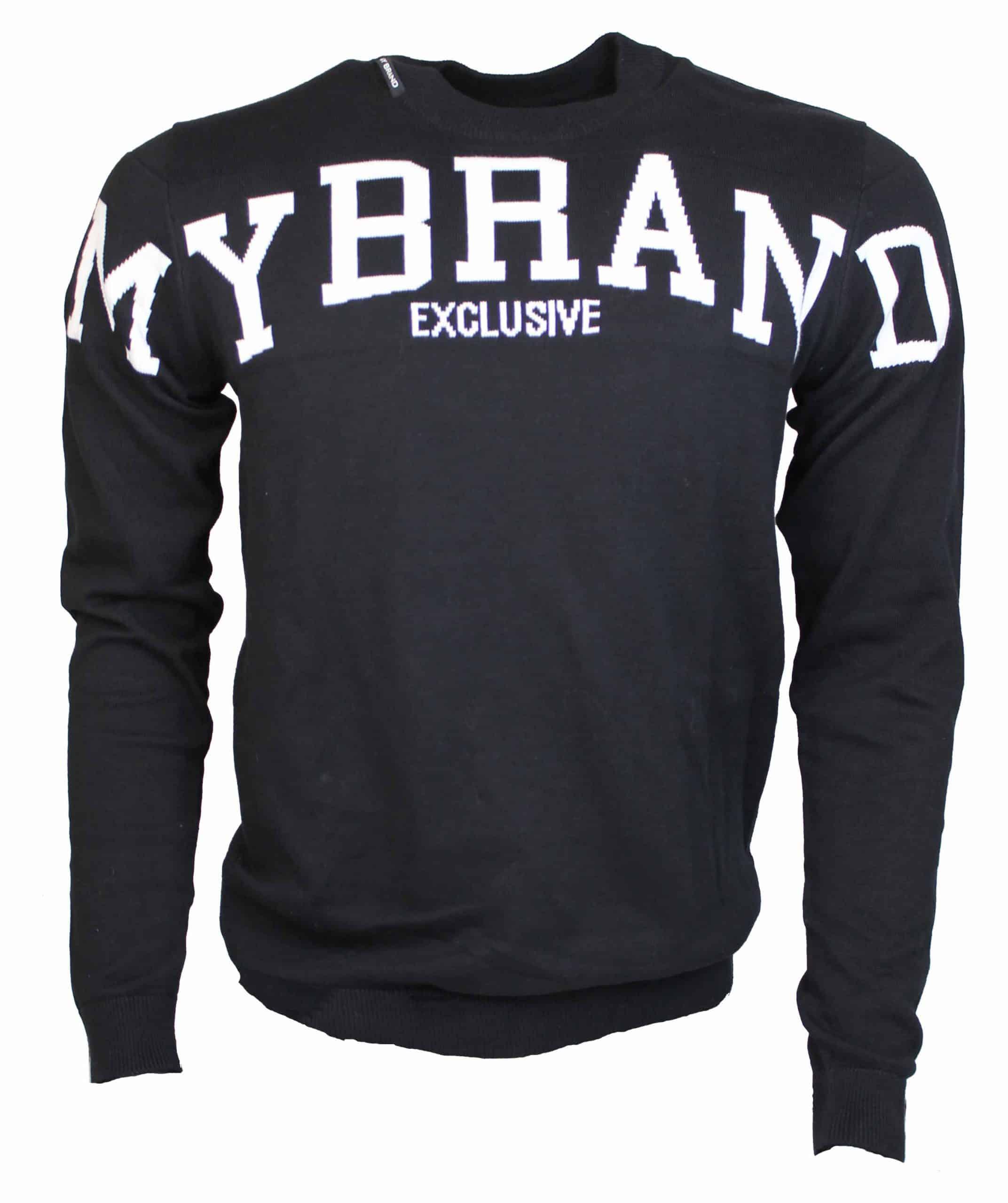 My Brand Logo Sweater Zwart