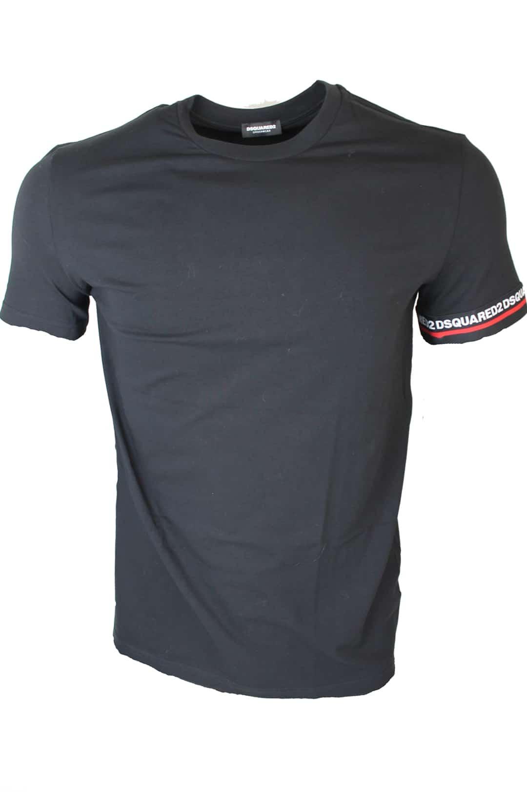 Dsquared T-Shirt With Logo Zwart