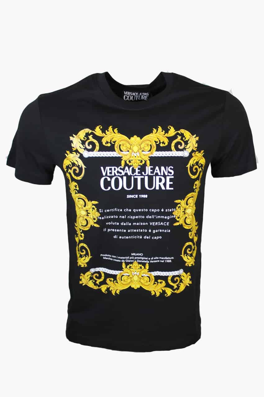 Versace Jeans Couture T-shirt Baroque Print