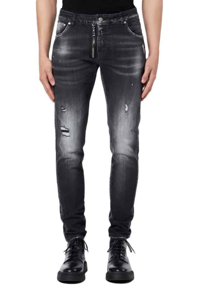 My Brand Black Denim Zipper Jeans