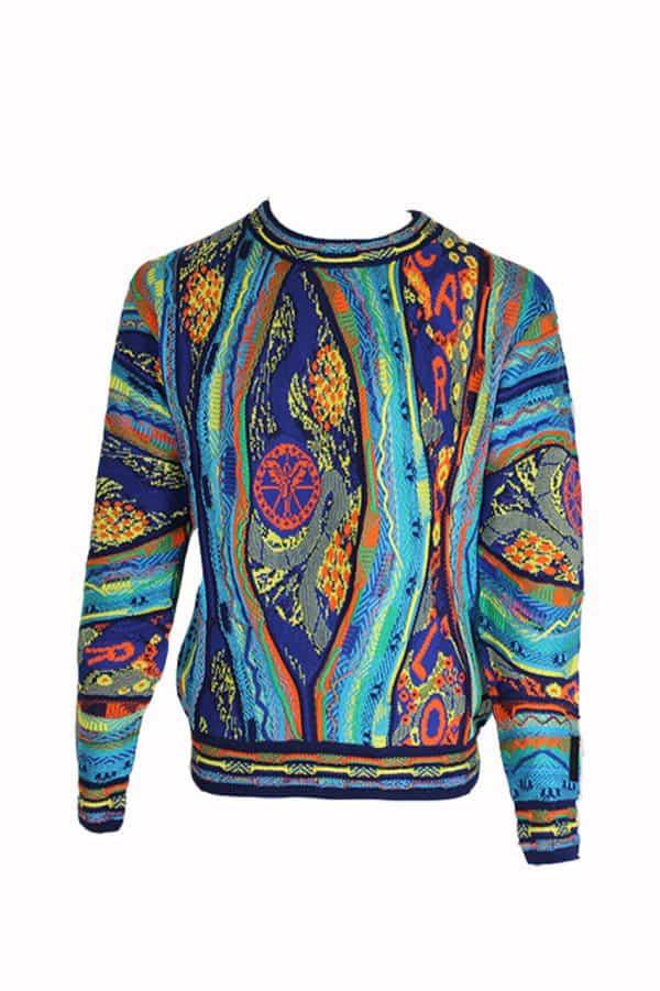 Carlo Colucci Sweater C9805 Blue