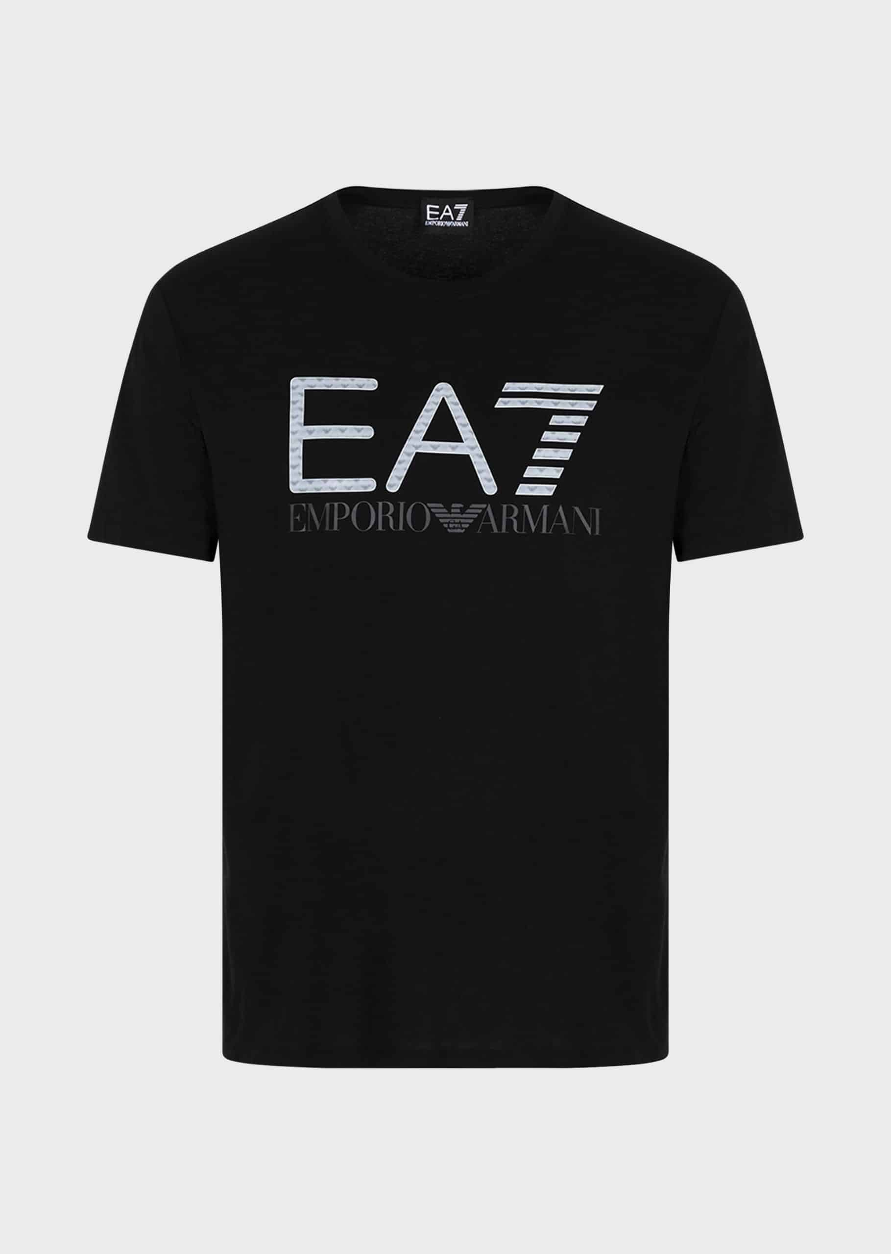 Armani EA7 T-Shirt 3D Logo Print Black