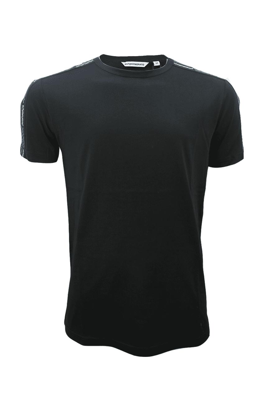 Antony Morato T-Shirt Met Logotape Zwart