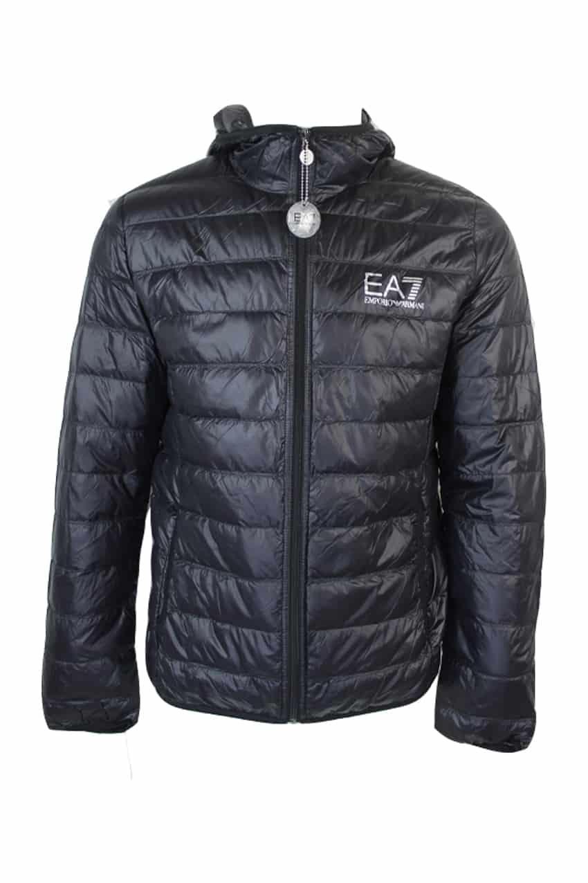 Armani EA7 Hooded Puffer Jacket Black