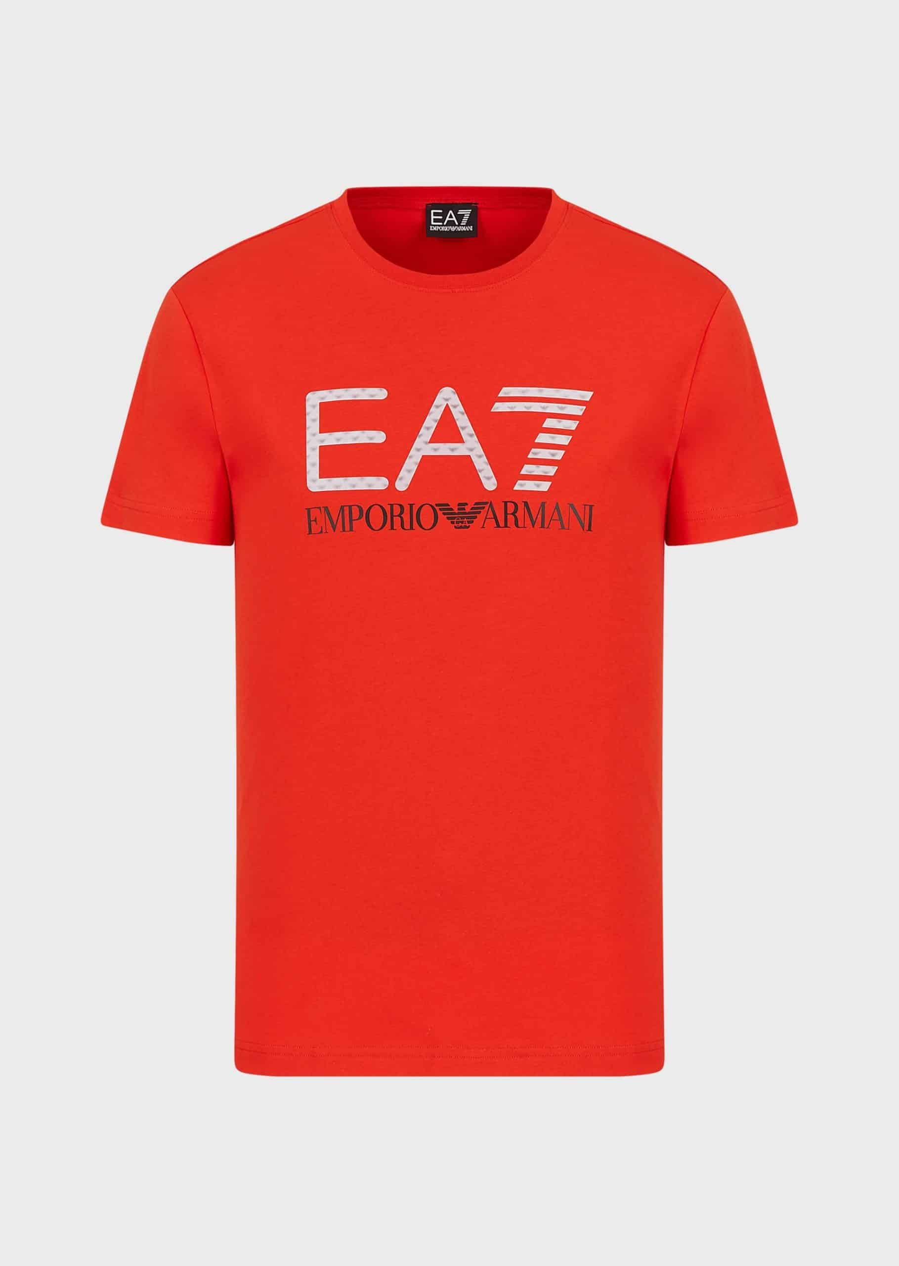 Armani EA7 T-shirt 3D Logoprint Red