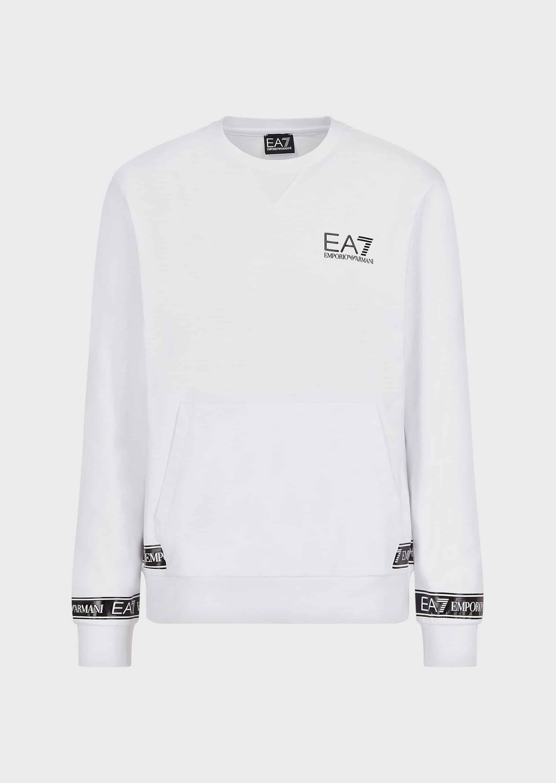 Armani EA7 Sweater Logo White