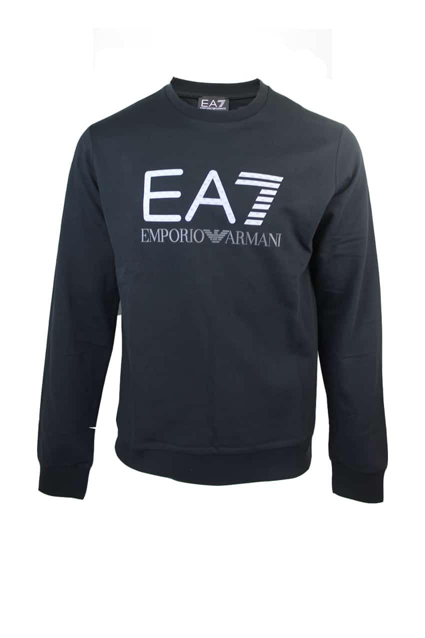 Armani EA7 Sweater 3D Logo Print Black
