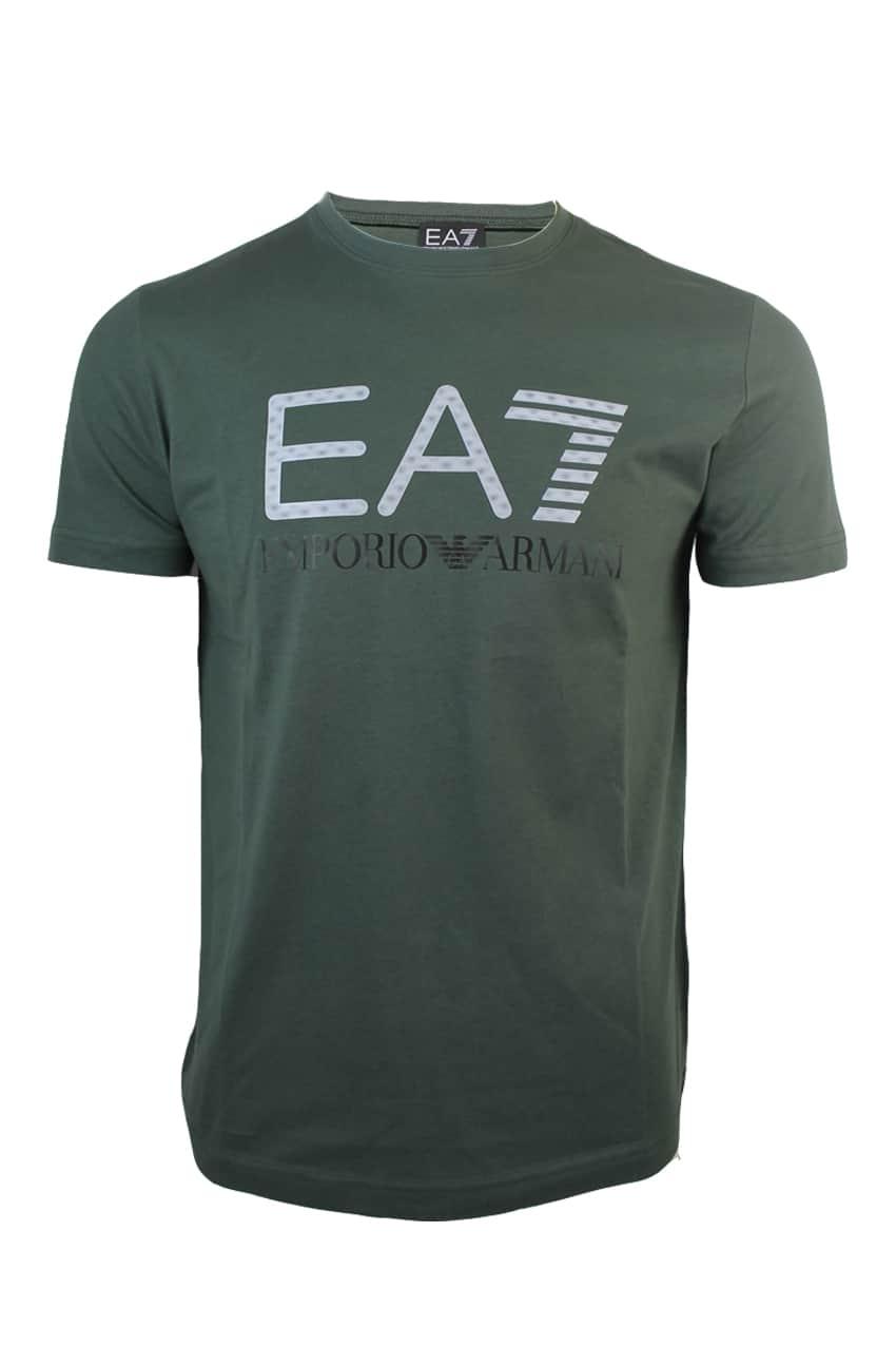 Armani EA7 T-Shirt 3D Logo Print Green