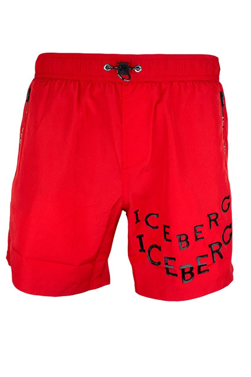 ICEBERG Swim Short Red