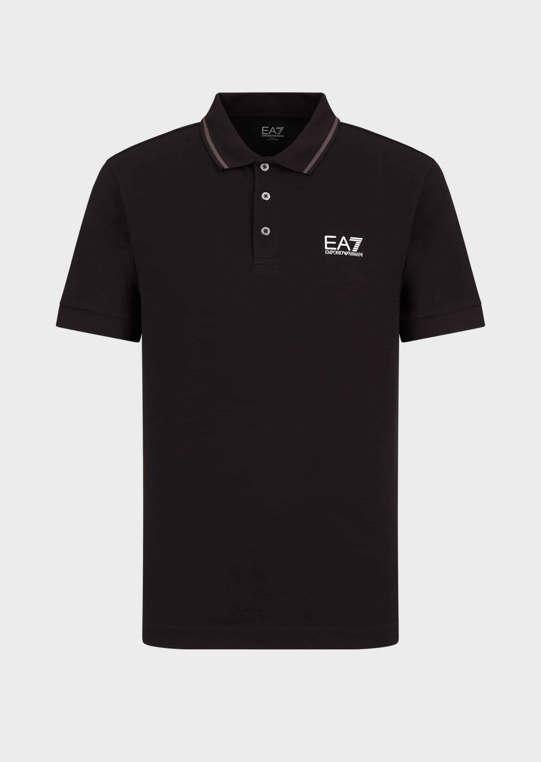 Armani EA7 Polo Black and Grey
