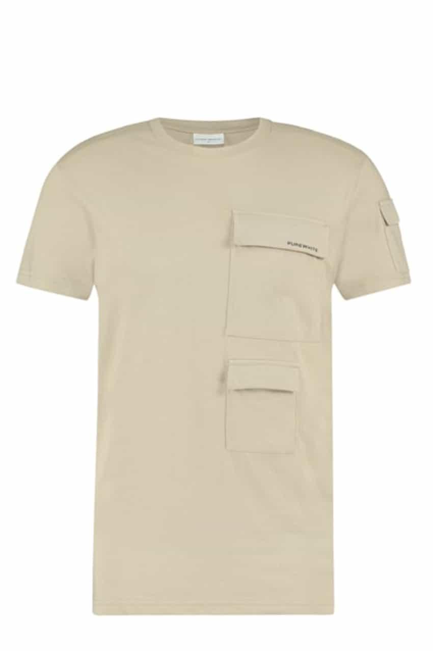 Purewhite T-Shirt Zand