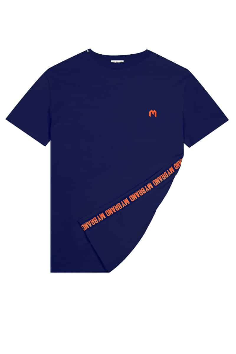 My Brand Logo T-Shirt Navy/Orange