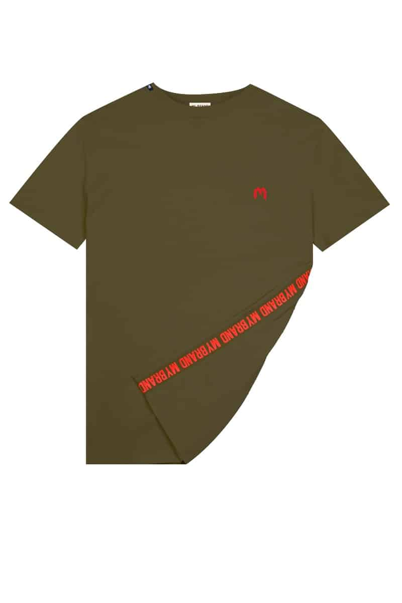 My Brand Logo T-Shirt Army Green/Red