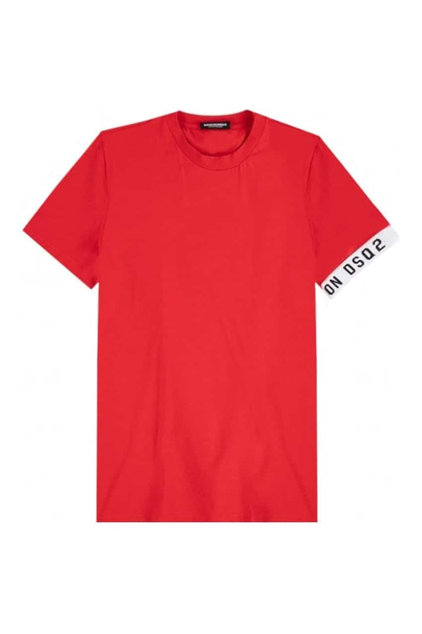 Dsquared2 Round Neck T-Shirt Red