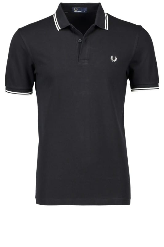 Fred Perry Polo Twin Tipped Black