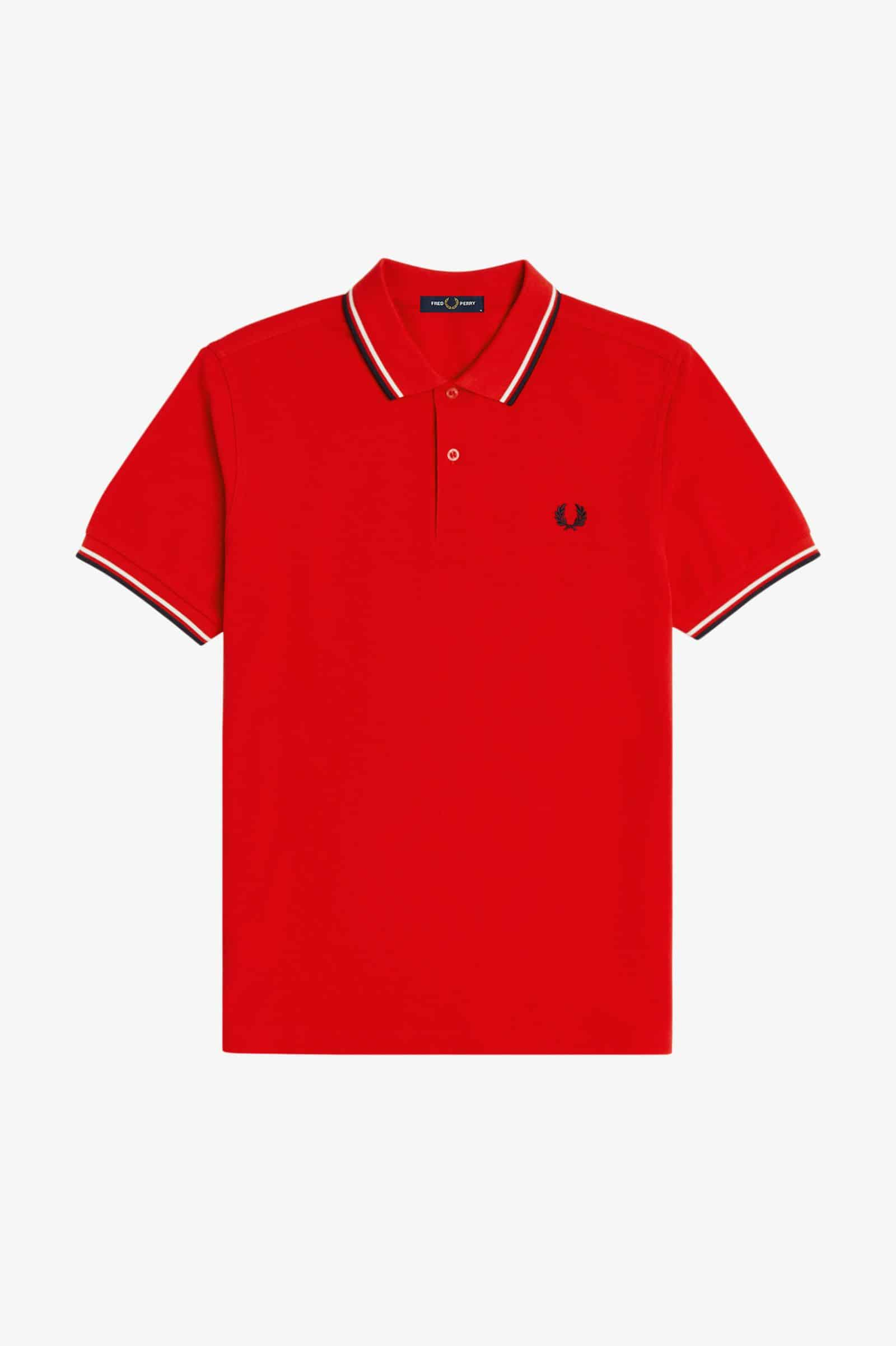 Fred Perry Twin Tipped Polo Racing Red