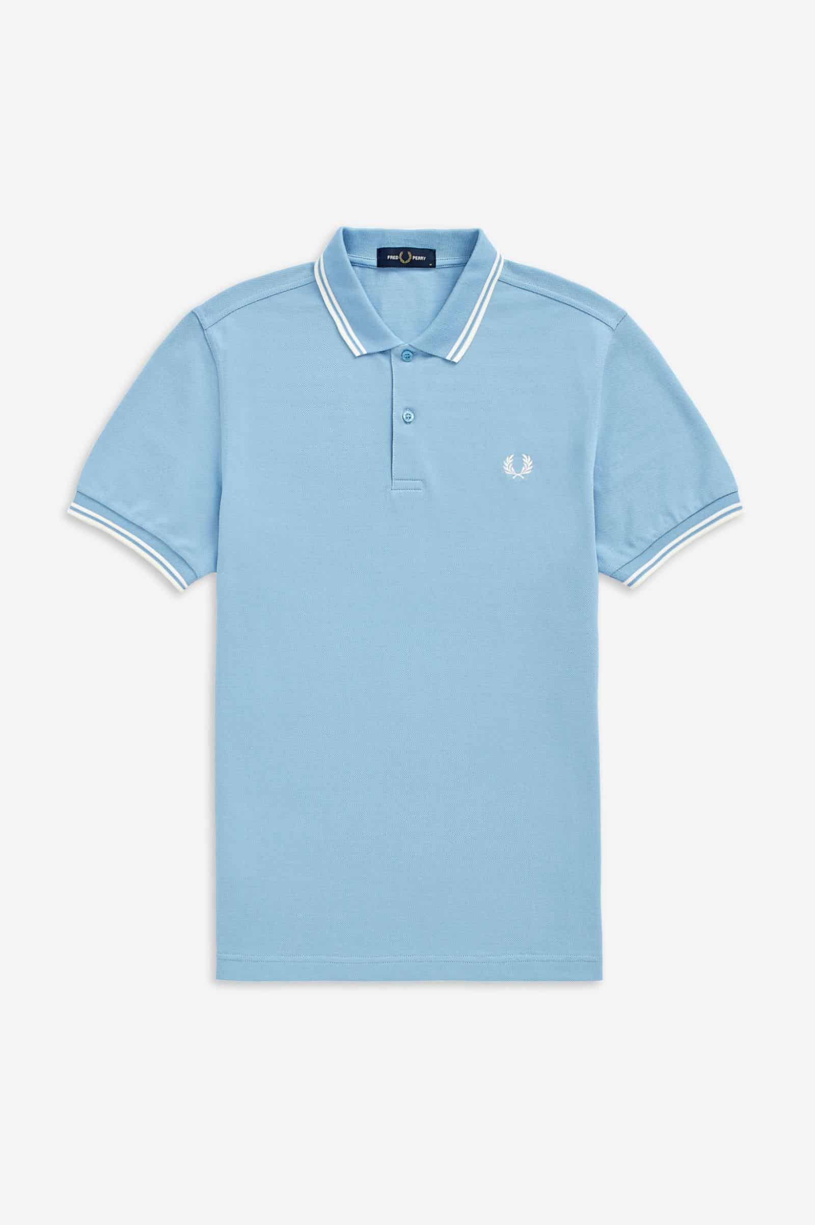 Fred Perry Twin Tipped Polo Sky
