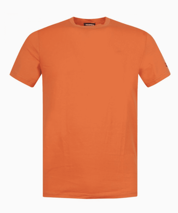 Dsquared2 Round Neck T-Shirt Orange