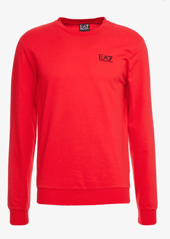 Armani EA7 Sweatshirt Racing Red