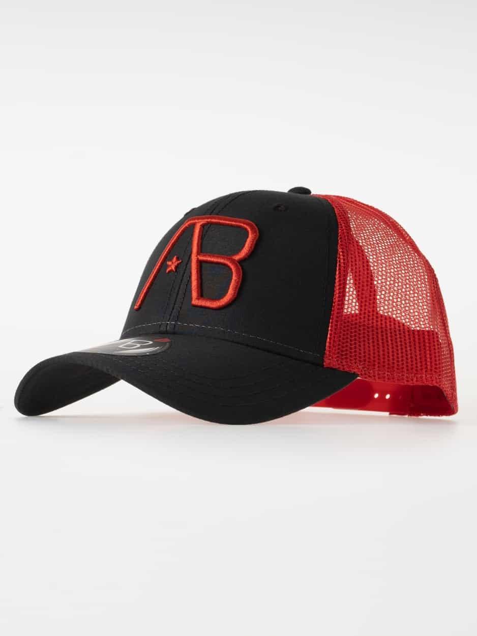 AB Lifestyle Retro Trucker Cap Red
