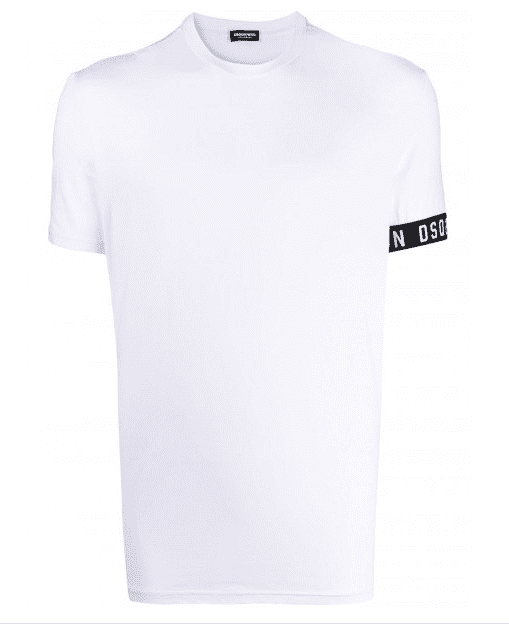 Dsquared2 Round Neck T-Shirt Band White