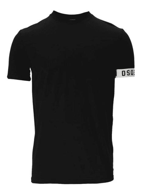 Dsquared2 Round Neck T-Shirt Band Black