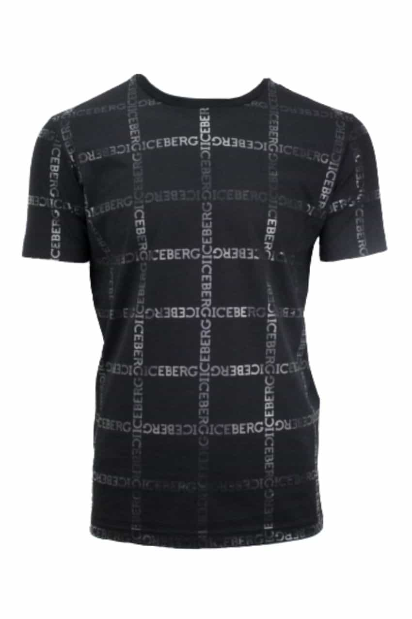 Iceberg 5D T-Shirt Jersey Tekst Black