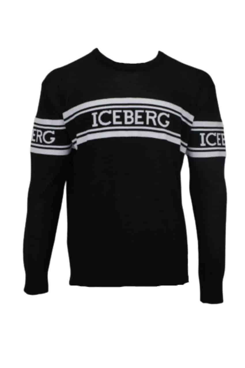 Iceberg Sweater Tekst Black