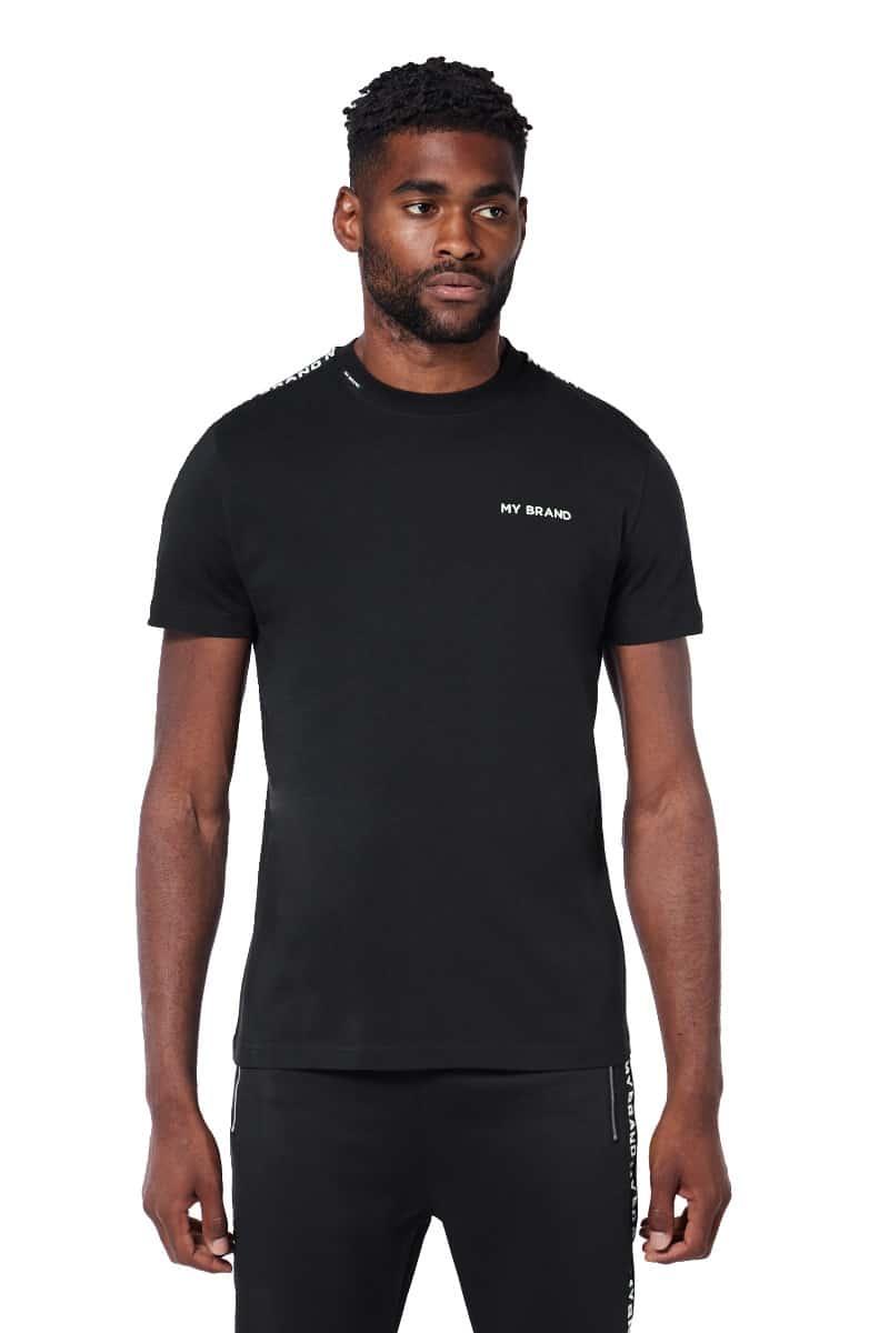 My Brand Tape T-Shirt Black/White