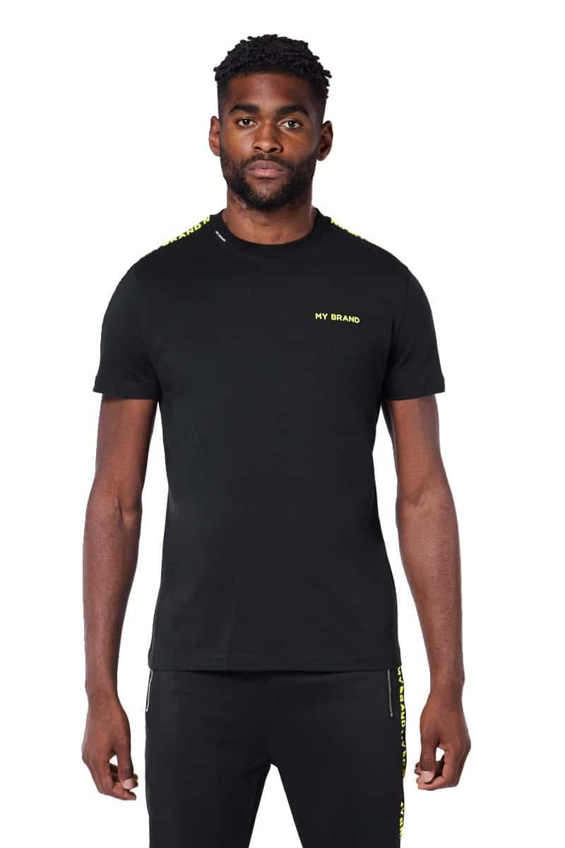 My Brand Tape T-Shirt Black/Yellow