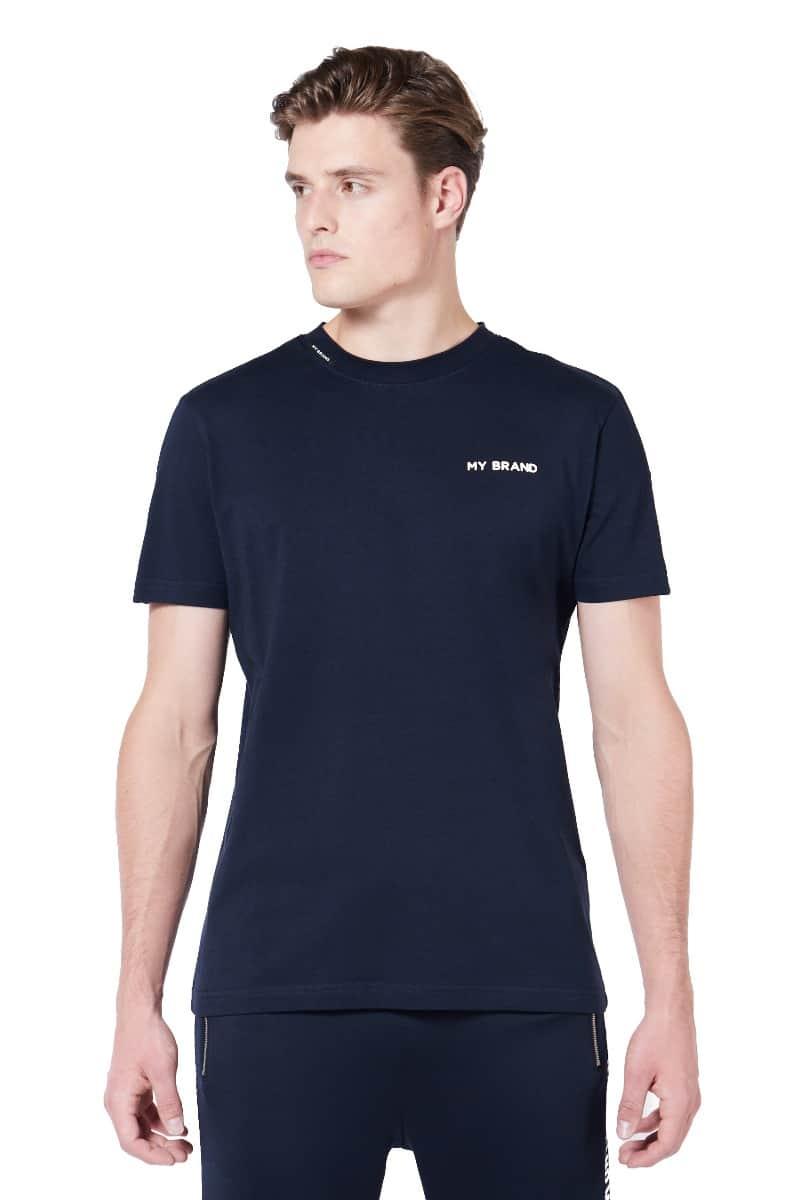 My Brand Tape T-Shirt Blue/White
