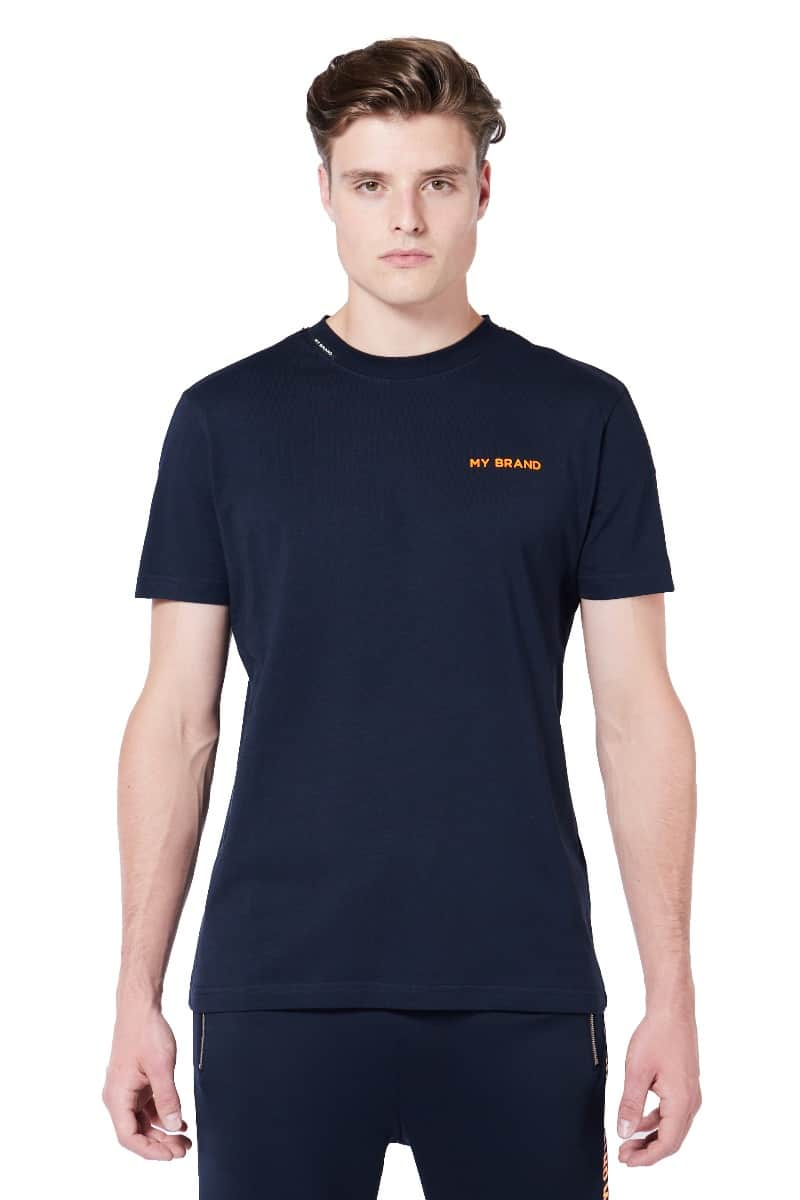 My Brand Tape T-Shirt Blue/Orange
