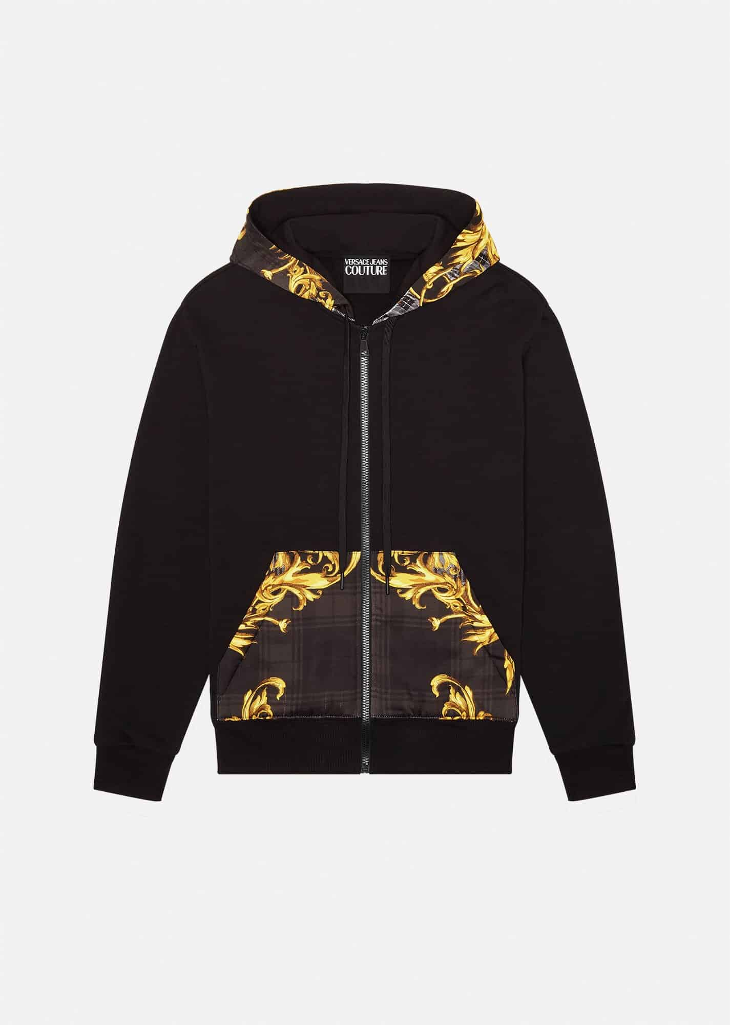 Versace Jeans Couture Baroque Print Accent Hoodie