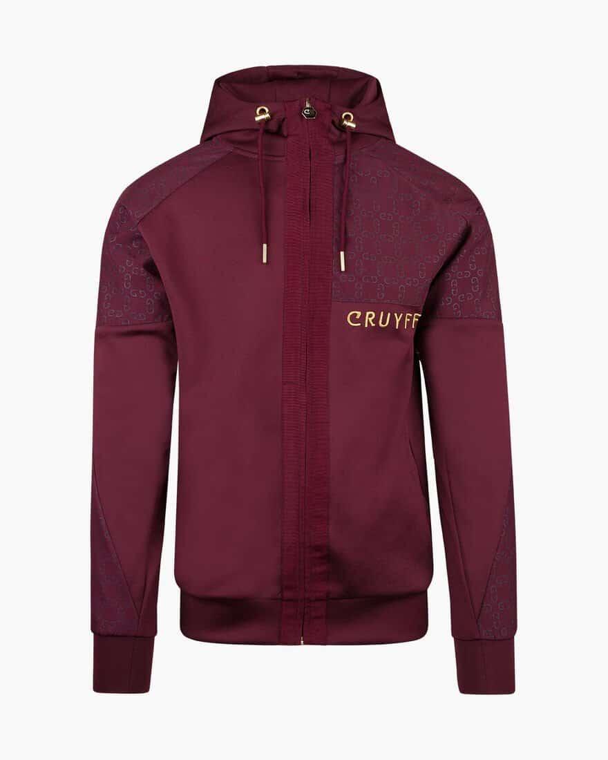 Cruyff Herrero Zip-Thru Hood Bordeaux