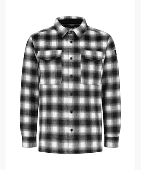 Purewhite Checked Wool Shirt Black/White