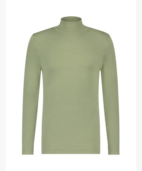 Purewhite Basic Knit Turtleneck Light Army
