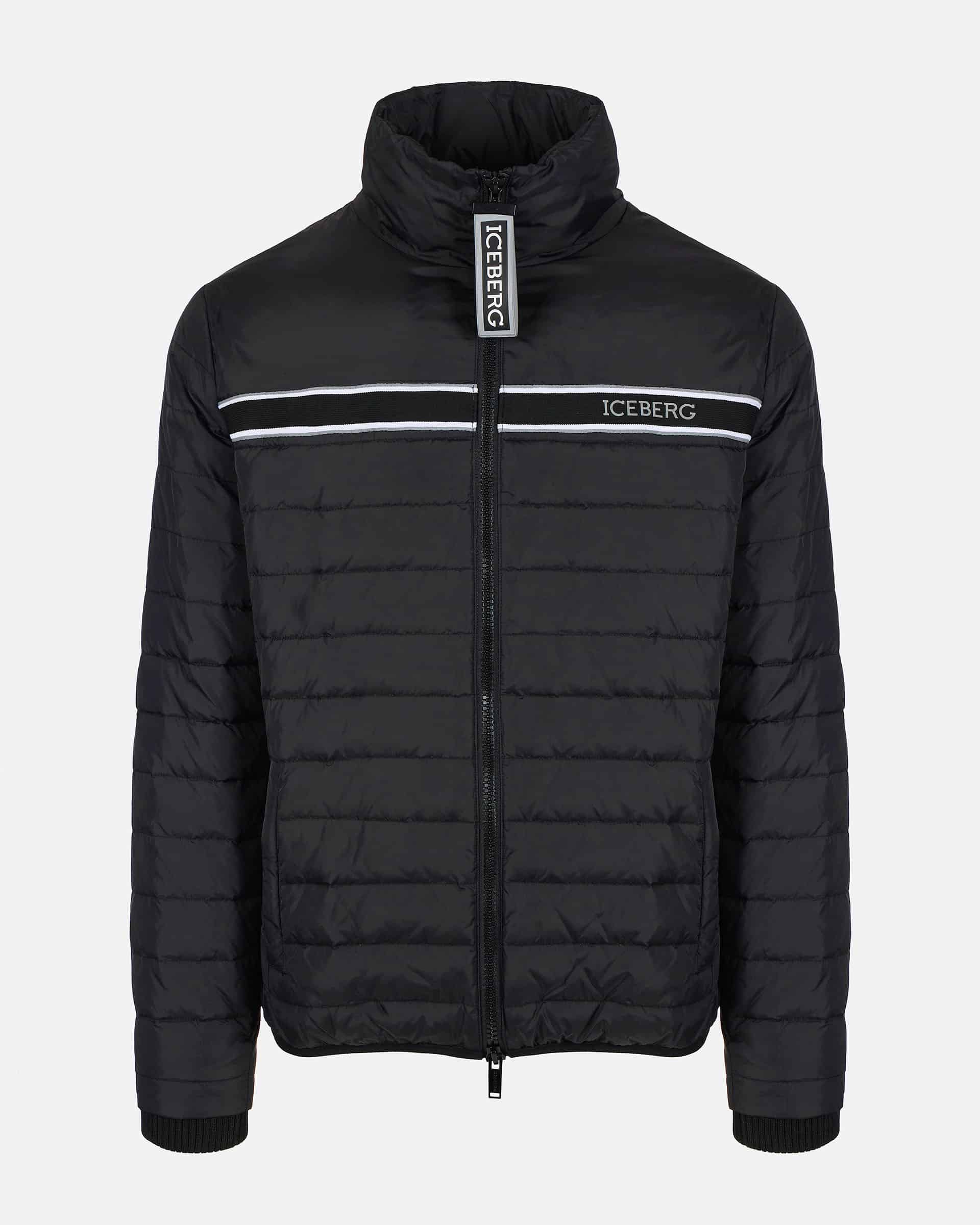 Iceberg Down Jacket With Front Technical Zipper Black