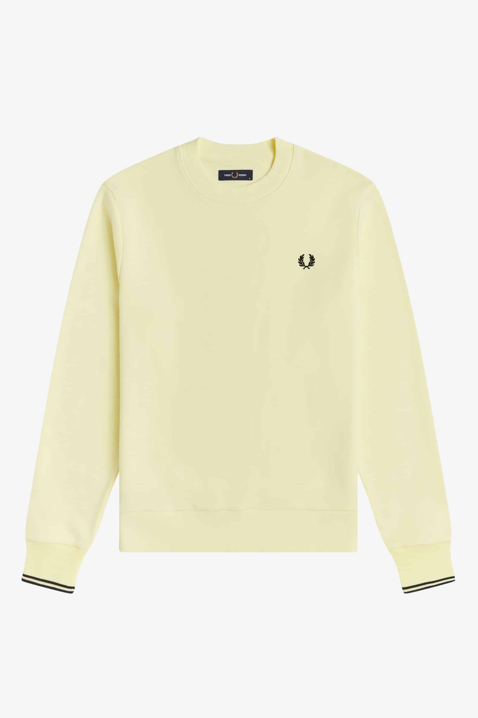 Fred Perry Crew Neck Sweatshirt Yellow