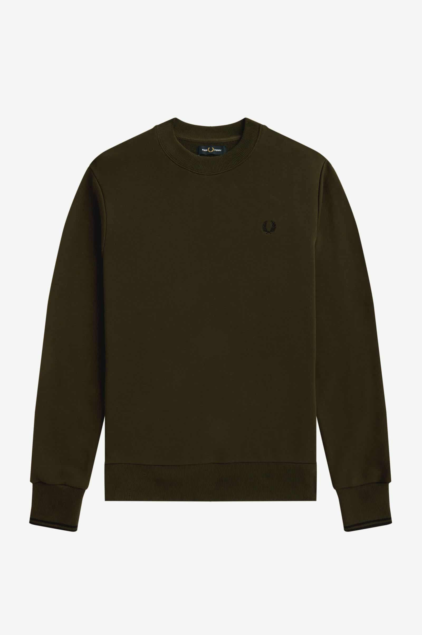 Fred Perry Crew Neck Sweatshirt Hunting Green